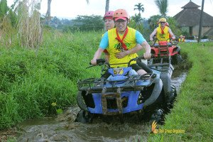 muddy, land, bali, atv, riding