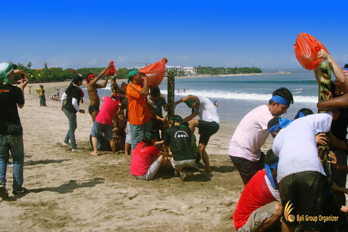 bali, team building, beach