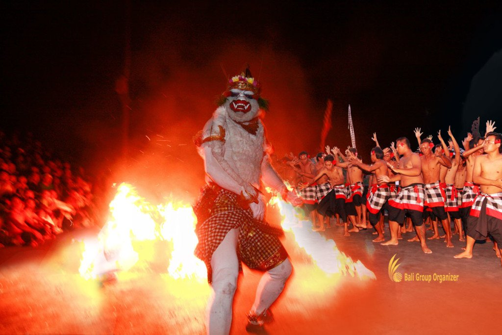 kecak, fire, dance, performance