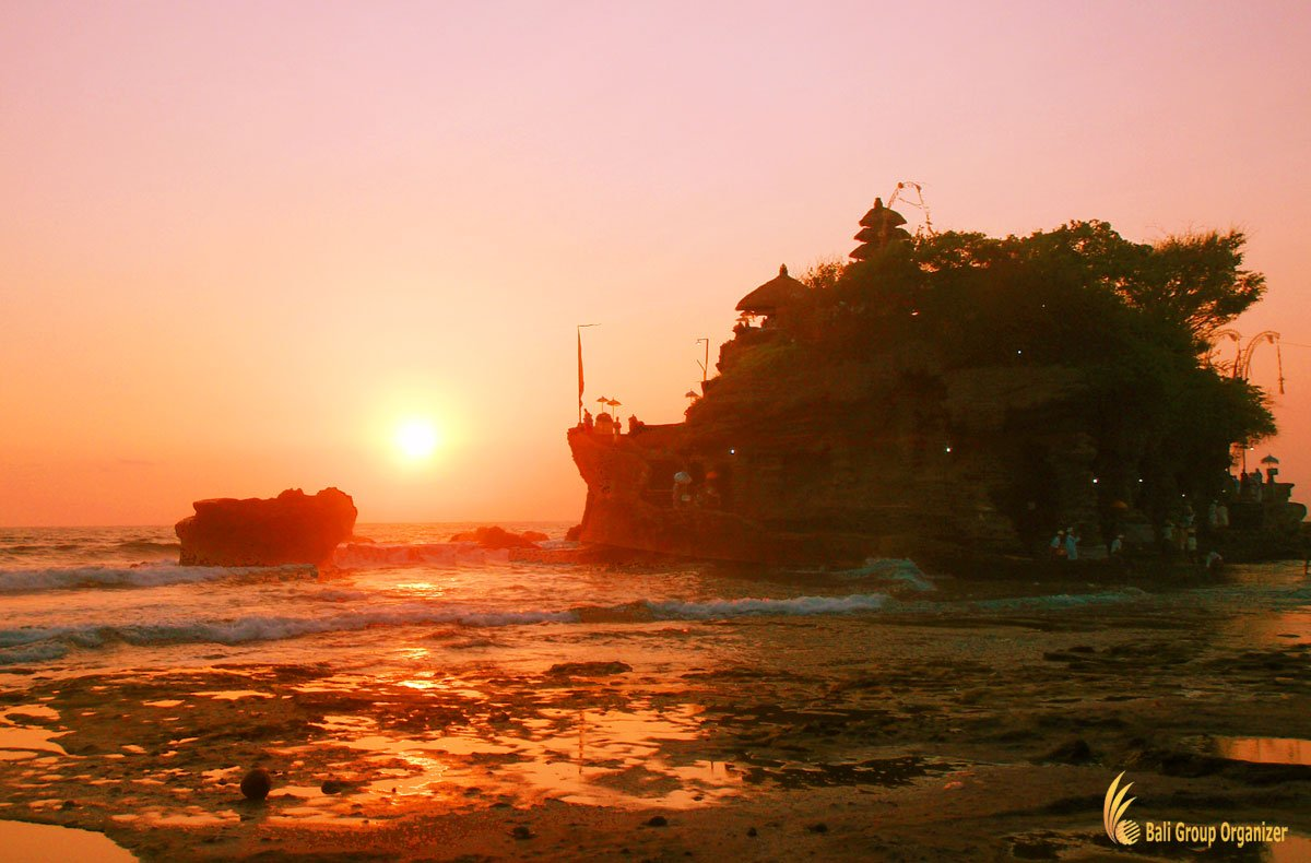 tanah lot, bali, temple, sunset