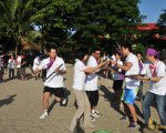 crazy, ball, games, beach, team building