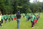 Astra Zeneca Garden Team Building Face to Fare Theme Stepping Mat Amazing Race Phase