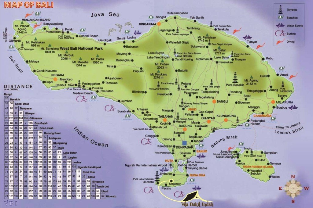 Bali Map A Guide For Tourist Complete About Tourist