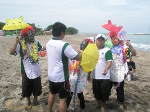 Aida Indonesia, Circus Parade, Bali, Beach Team Building