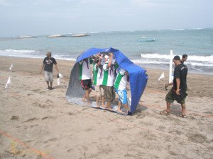 Aida Indonesia, Bulldozer Whell, Bali, Beach Team Building