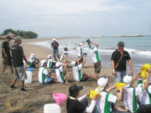 Aida Indonesia, Save Holy Water, Bali, Beach Team Building