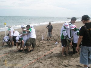Aida Indonesia, Aladin Carpet, Bali, Beach Team Building