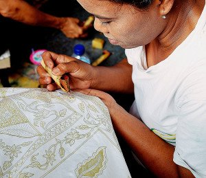 Indonesia Batik Girl Artisans