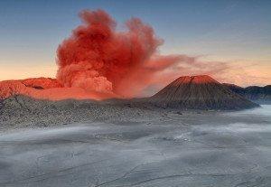 Bromo Mount, volcano, eruption