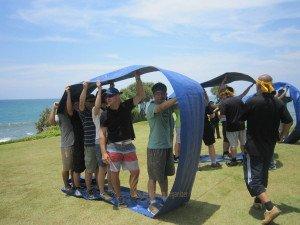 Emerson Climate Technologies Garden Team Building Amazing Race Phase Bulldozer Wheel Game