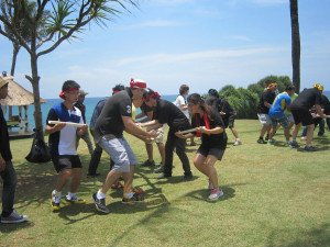 Emerson Climate Technologies Garden Team Building Amazing Race Phase Crazy Ball Games