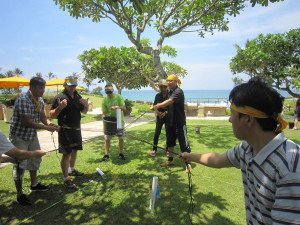 Emerson Climate Technologies Garden Team Building Treasure Hunt Phase Toxic Waste game preparation