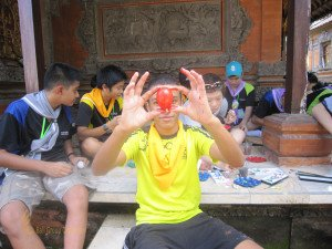 Fairview International School, Bali Education Trip, Balinese Culture, Egg Painting, Balinese Art, Bali