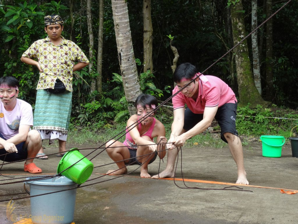 Fortinet, Toxic Waste Games, Bali, Garden Team Building