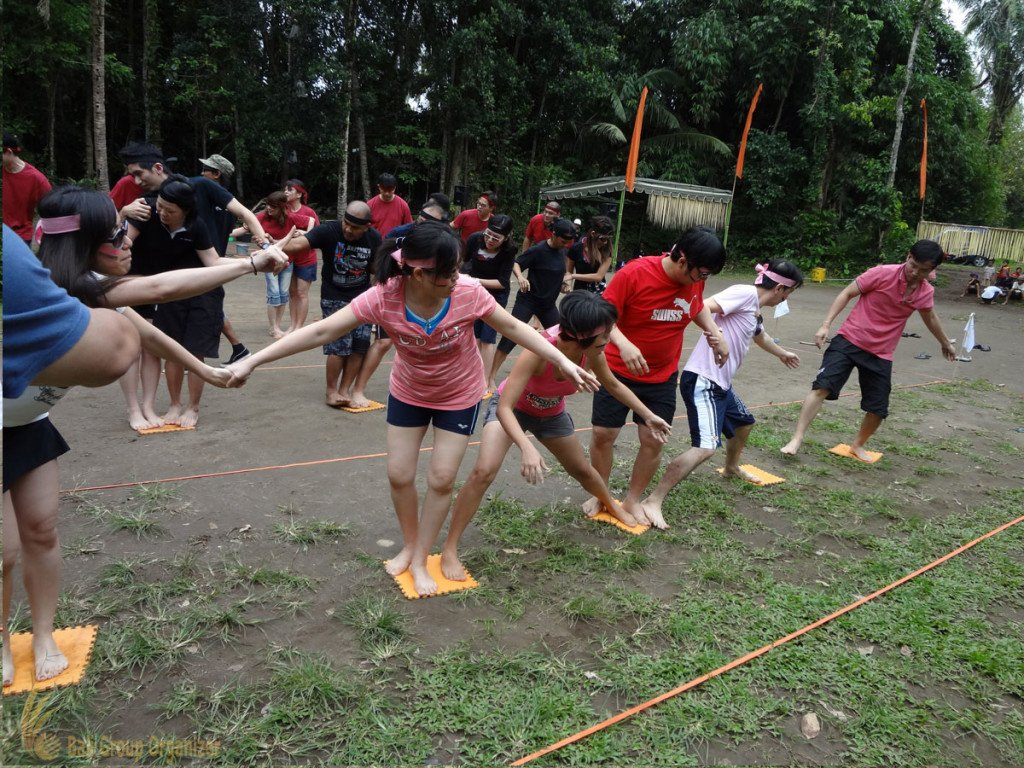 Fortinet, Stepping Mat Games, Bali, Garden Team Building