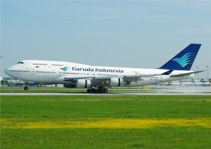 Garuda Indonesia on Runway
