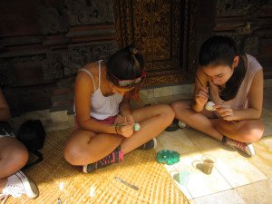 German Swiss International School, Hongkong, Bali Education Trip, Balinese Culture Lesson, Egg Painting,