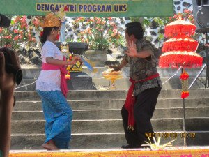 Joged Dance with Balinese People