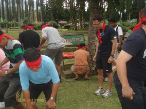 PT National Starch, Hole In One, Games, Bali Garden Team Building, Team Building