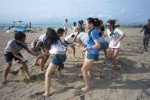 Bali Beach Team Building, Team Building, Hulahoop Transfer Games, Beach, Fun Game, Education Games, Group Event, Bali