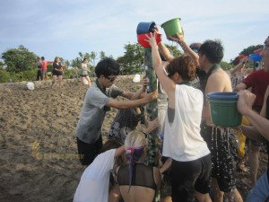 NetCcentric, Bali, Beach, Team, Building Olympic Game Phase Water Tower Game