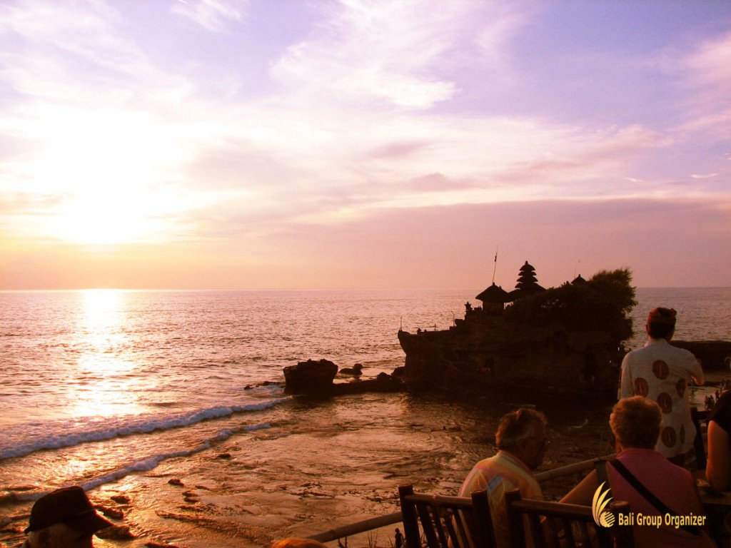 tanah, lot, sunset, bali, temple
