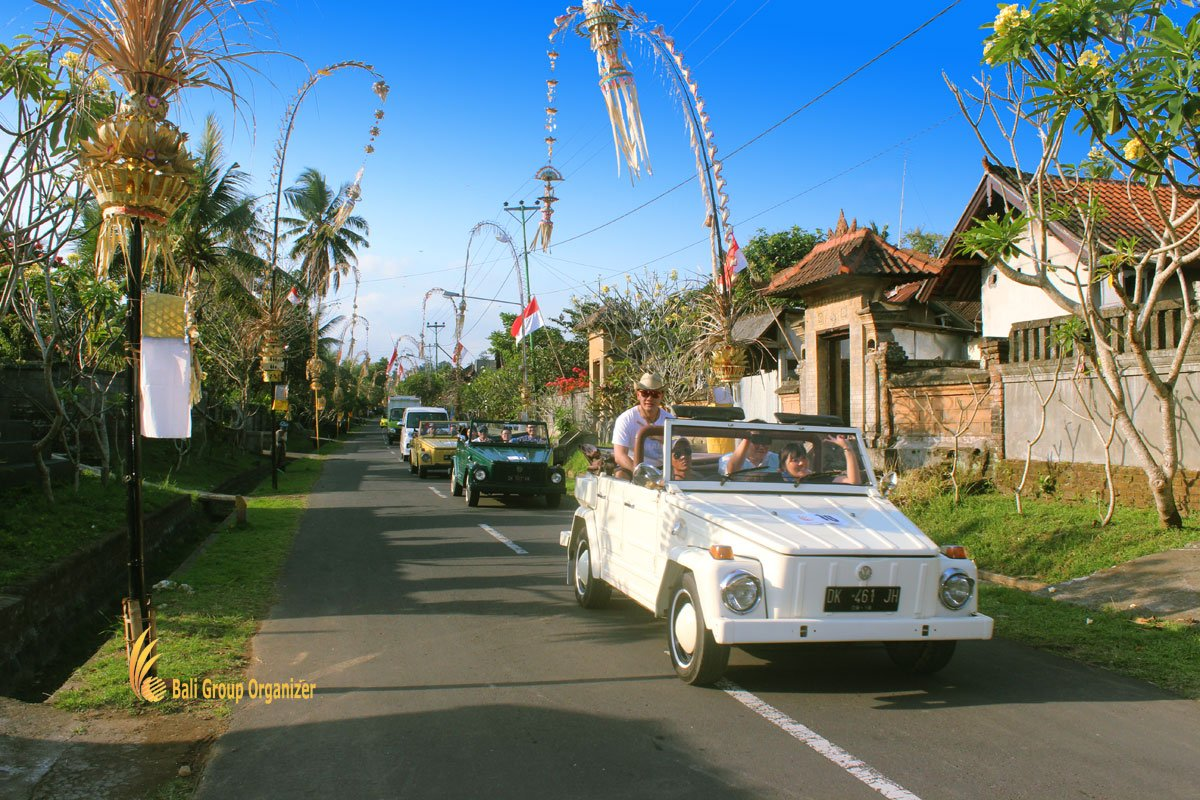 treasure hunt bali, vw, safari, village, trips