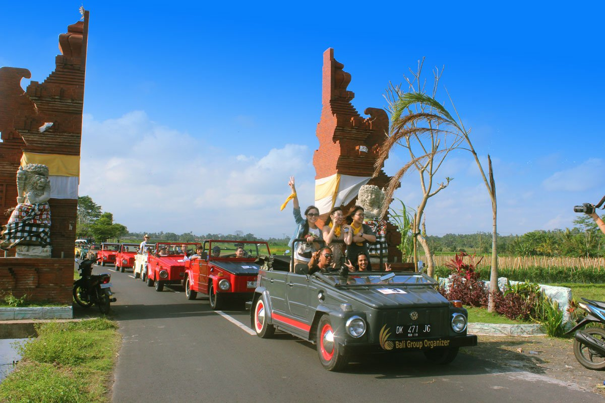treasure hunt bali fun rally, vw, safari, team, building