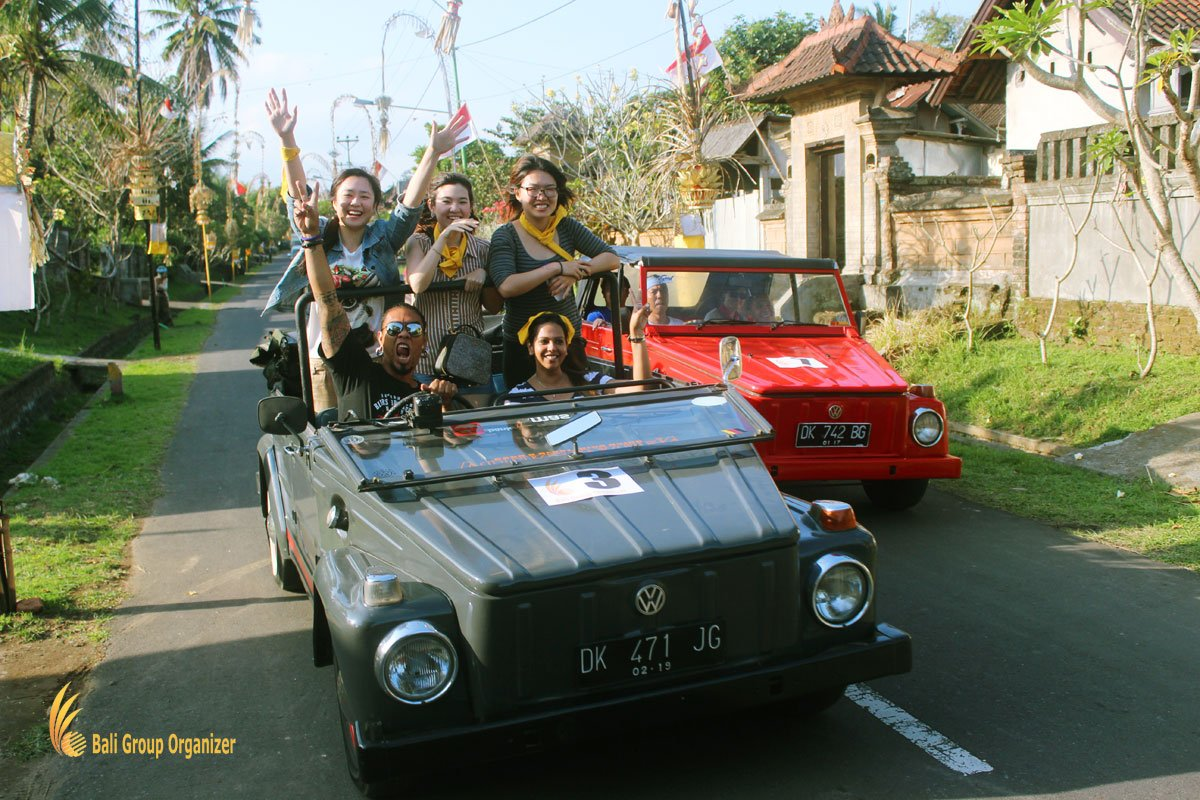 treasure hunt bali, vw, safari, traditional, village