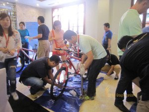 fireeye, singapore, bali, csr, corporate, social, responsibility, charity, orphanage, bali csr, bali charity, bicycle reconstruction