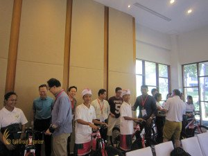 fireeye, singapore, bali, csr, corporate, social, responsibility, charity, orphanage, bali csr, bali charity, bicycle presentation