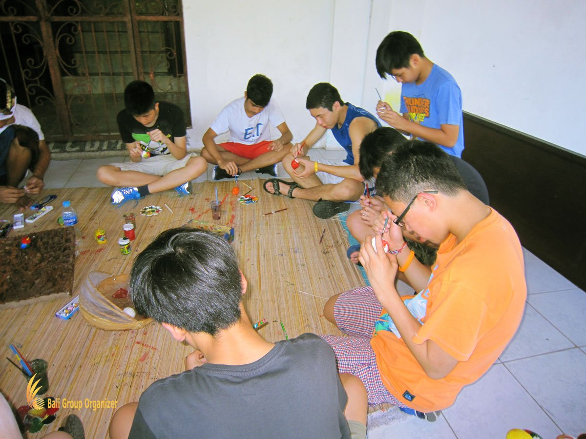 bali, balinese, cultures, balinese culture lessons, cais, cais hongkong, egg painting class