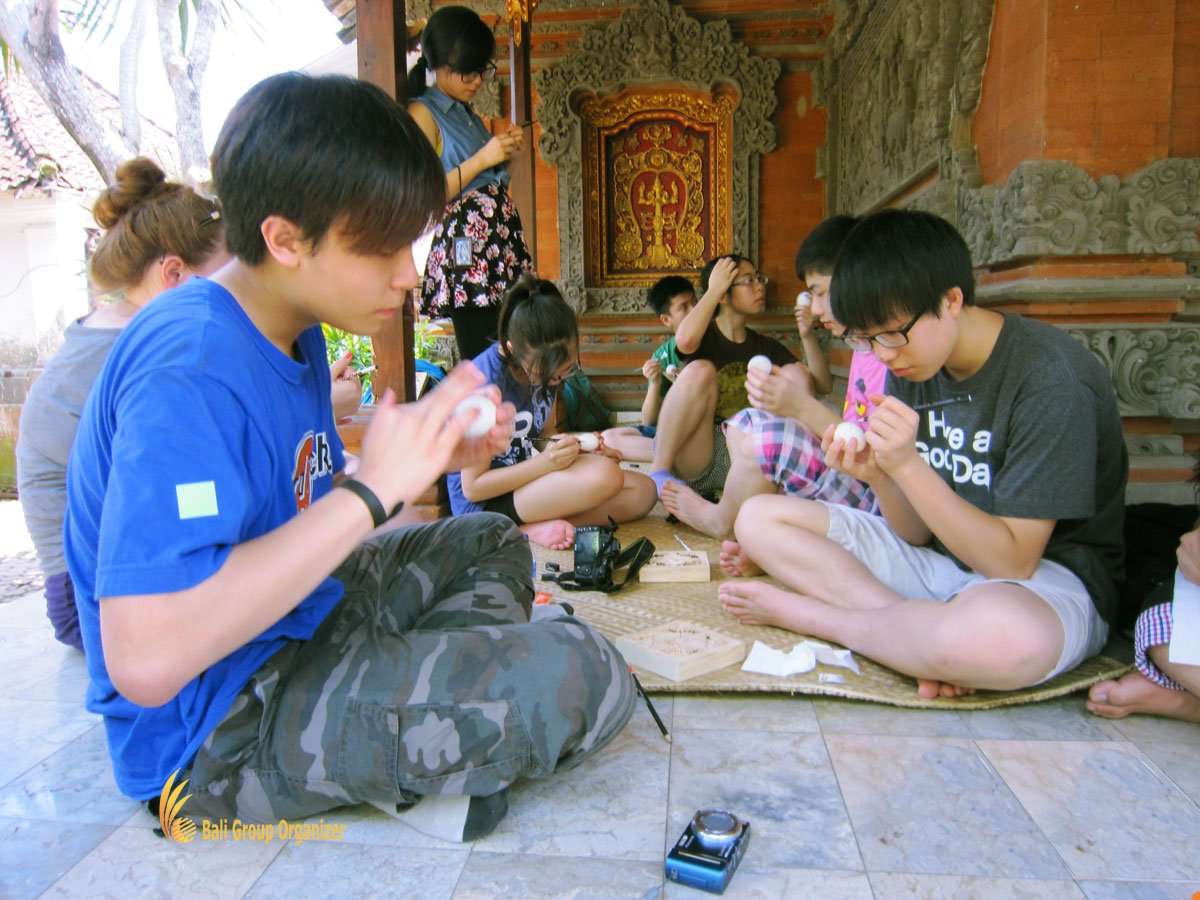 egg painting, bali, balinese, cultures, lessons, courses, bali egg painting