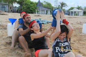 hotelbeds, photo, beach, team, team building, fun, games, fun games, ice breaking, tanjung benoa, sakala, save holy water, games