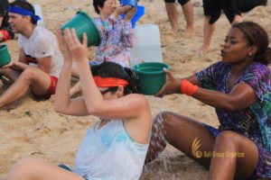 hotelbeds, photo, beach, team, team building, fun, games, fun games, ice breaking, tanjung benoa, sakala, save holy water, games, photo