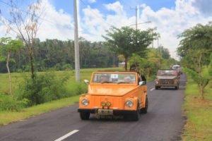 Balinese village exploration by Volkswagen car