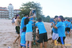olympic game, beach team building, team building, scor global, scor global life
