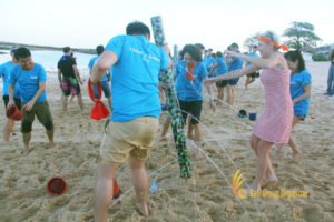 water tower, beach team building, scor global, scor global life