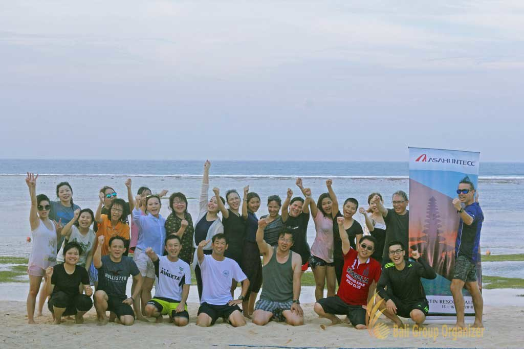 beach team building, team building, asahi, asahi intecc, asahi intecc group