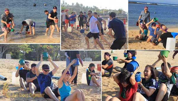 team-building and CSR program of AON Benfield group  save holy water, beach games, water games, beach team building, aon benfield