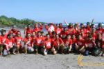 forest indo niaga, beach team building, team building