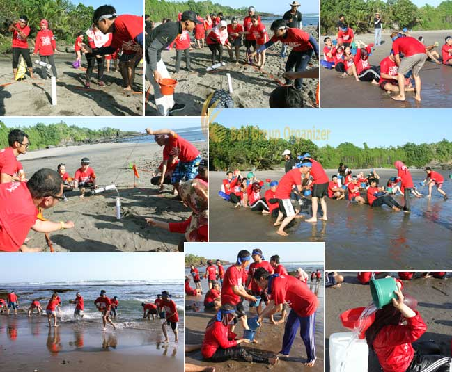 group team-building activities forest indo niaga company Olympic games, forest indo niaga, beach team building, team building