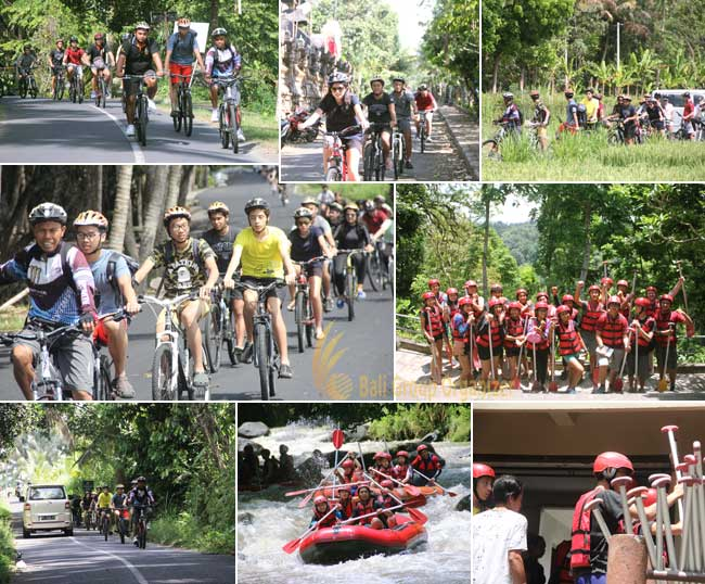 Medan Independent School a student trip to Bali cycling adventures, bali cycing, ayung river rafting, bali rafting, mis, medan independent school, bali student tours, education trips