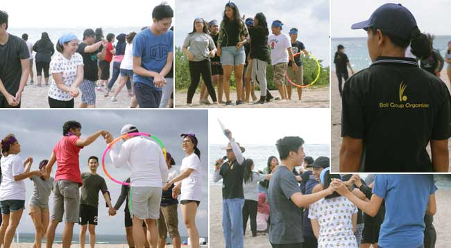 beach team-building experience ice breaking, beach team building, team building, oentoeng suria
