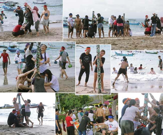 beach team-building experience olympic games, beach team building, team building, oentoeng suria