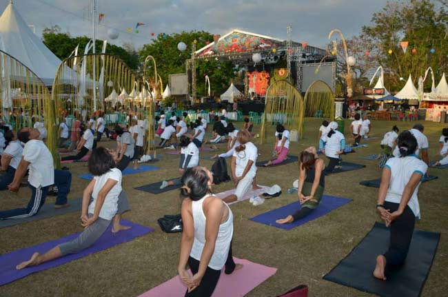 Bali yoga colossal at Sanur Village Festival