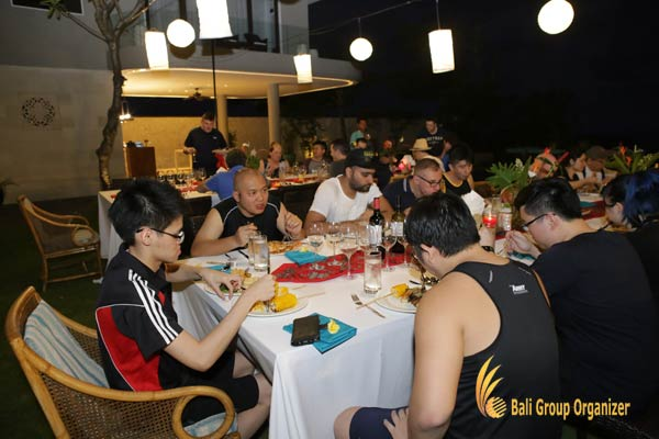 group dinner, Singapore Software Company
