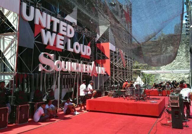 Stage for Soundrenaline event